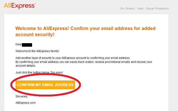 email aliexpress